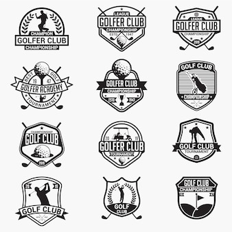 Badges et logos de club de golf