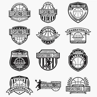 Badges et logos de clubs de basketball