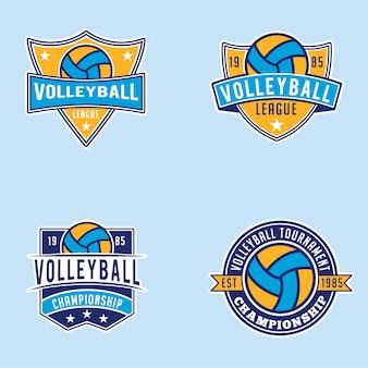 Badges et logos de volleyball