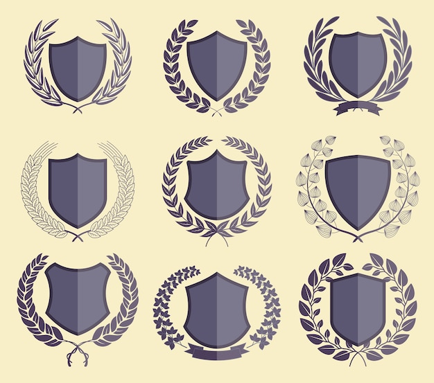 Badges de luxe laurel wreath collection