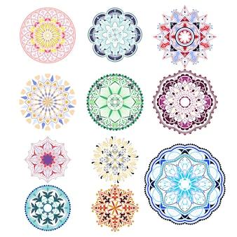 Badges de mandala détaillés