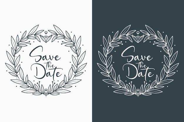 Badges de mariage floral charmants et minimaux