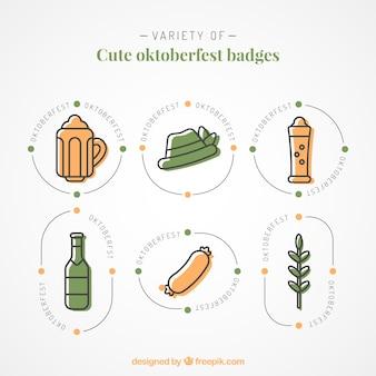 Badges minimum minimalistes