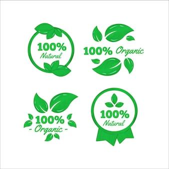 Badges naturels à cent pour cent
