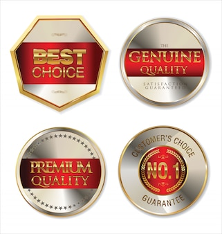 Badges d'or