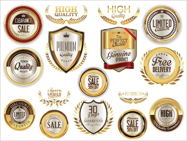 Badges d'or