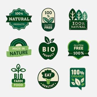 Les badges de produits biologiques définissent un vecteur pour les campagnes de marketing alimentaire
