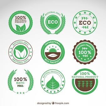 Badges de produits naturels