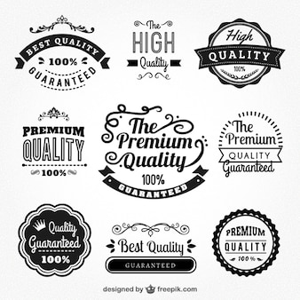 Badges de qualité supérieure