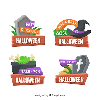 Badges de réduction halloween