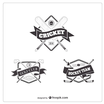 Badges rétro de l'équipe sportive