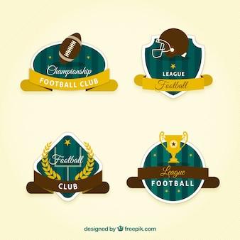 Badges rétro de football américain