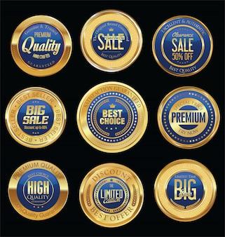 Badges rétro de luxe