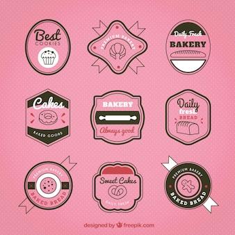 Badges rétro pour la boulangerie