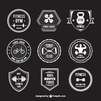 Badges rétro pour le fitness
