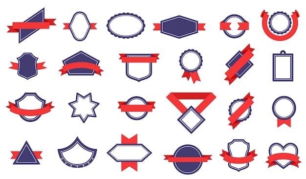 Badges avec des rubans