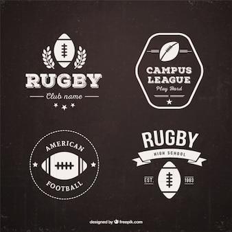 Badges de rugby rétro