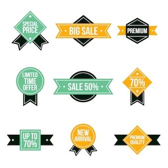 Badges de vente dans un style rétro