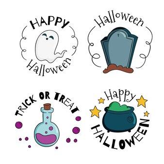 Badges de vente festival halloween