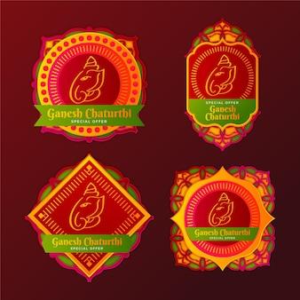 Badges de vente ganesh chaturthi