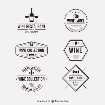 Badges de vin rétro
