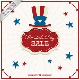 Badges vintage pour le jour du président