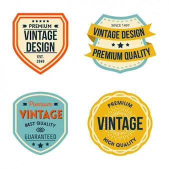 Badges vintage set
