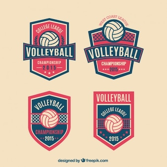 Badges de volley emballent