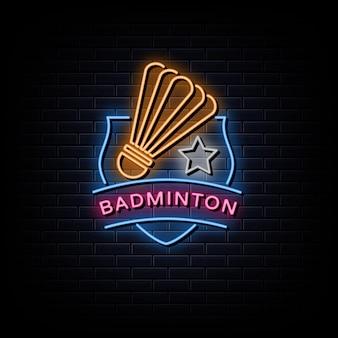 Badminton club logo enseignes néon