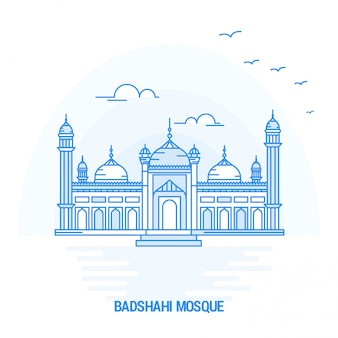 Badshahi mosque blue landmark