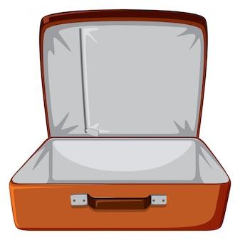 Un bagage vide sur blanc