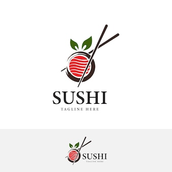 Baguettes swoosh bol oriental cuisine japonaise sushi japonais fruits de mer vector illustration