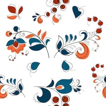 Baies et fleurs à la russe