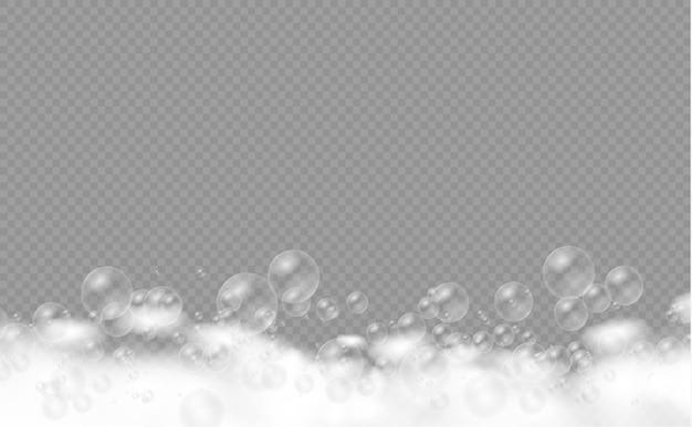 Bain moussant aux bulles de shampoing.
