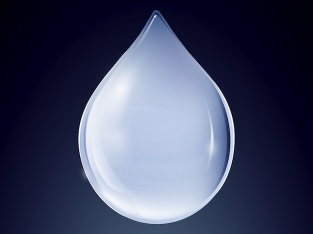 Baisse de la conception du logo de l'eau