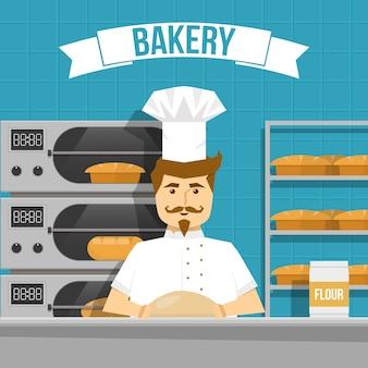 Baker cooks pain design