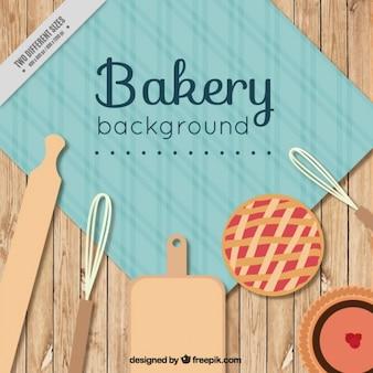 Bakery fond avec un rouleau à pâtisserie