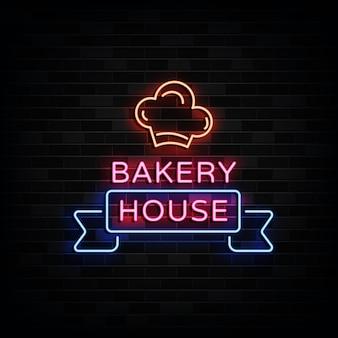 Bakery house enseignes néon