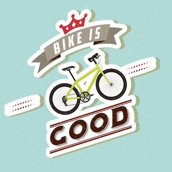 La balade à vélo est un bon style de carte de conception