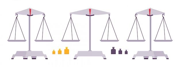 Balance balances avec poids