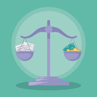 Balance finance économie isolée