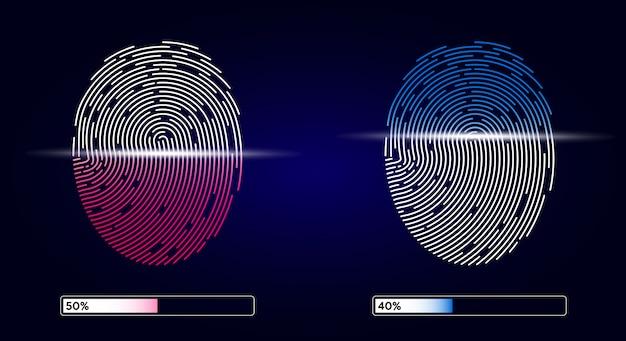 Balayage électronique d'empreintes digitales. icône d'application id.