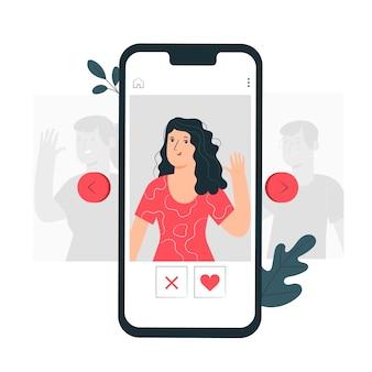 Balayage illustration de concept de profils
