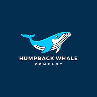 Baleine à bosse logo icône illustration vectorielle