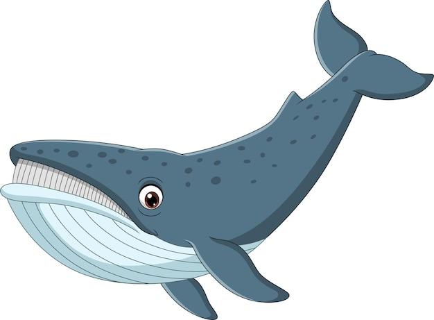 Baleine de dessin animé isolée