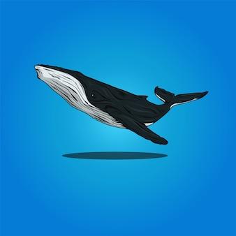 Une baleine grise géante