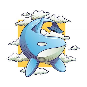 Baleines dans le ciel