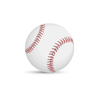 Balle de baseball isolé sur fond blanc
