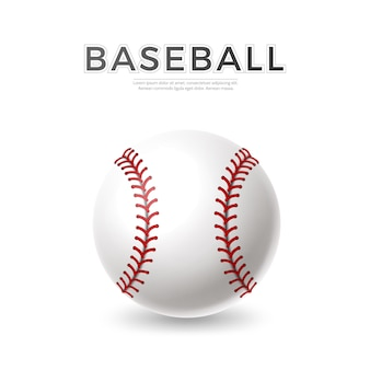 Balle de baseball réaliste de vecteur