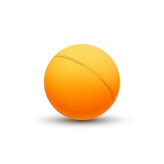 Balle de ping-pong 3d. balle de département de club de ping-pong de vecteur.